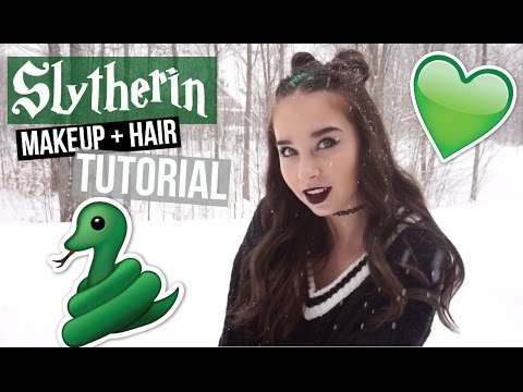 Slytherin Inspired Makeup + Hair Look