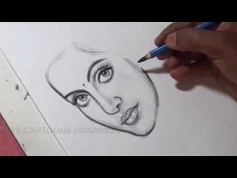 how-to-draw-pencil-portrait-of-a-women-drawing