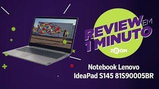 Notebook Lenovo Ideapad S145 i5-8265U e 8GB RAM | REVIEW EM 1 MINUTO - ZOOM
