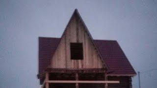 Мансардные крышу делали за неделю 160 квадрат