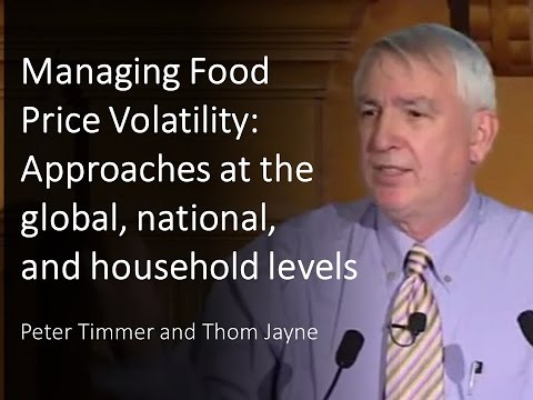 Managing Food Price Volatility: Approaches At The Global, National, And Household Levels