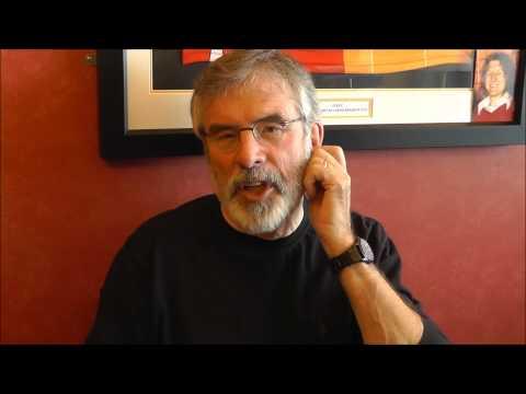 A message from Uachtarán Shinn Féin Gerry Adams