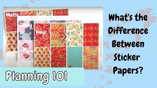 What is the Difference Between Matte, Glossy, & Vinyl Stickers?