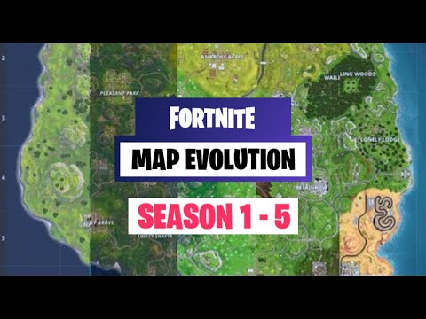 FORTNITE Map Evolution History: Season 1 To 5