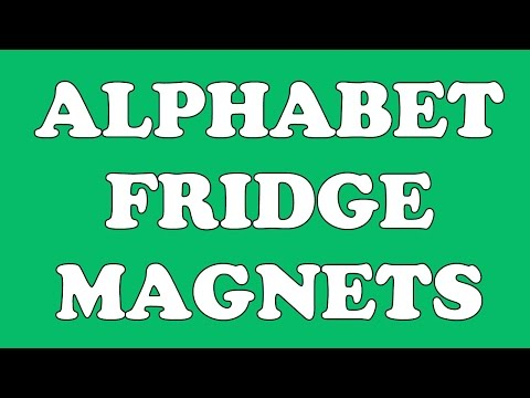 Alphabet Refrigerator Magnets - learn the ABCs and Phonics with Alphabet Fridge Magnets