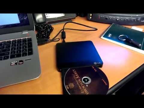 LG GP-50 SLIM EXTERNAL DVD-RW REVIEW (Tech Dojo #10) (2013)