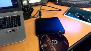 LG GP-50 SLIM EXTERNAL DVD-RW REVIEW (Tech Dojo #10) (2013)