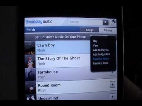 Thumbplay Music Store for BlackBerry Review