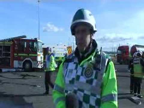 999 emergency services exercise at Teesport