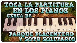 TOCA LA PARTITURA EN LOS PIANOS CERCA DE PARQUE PLACENTERO Y SOTO SOLITARIO EN FORTNITE