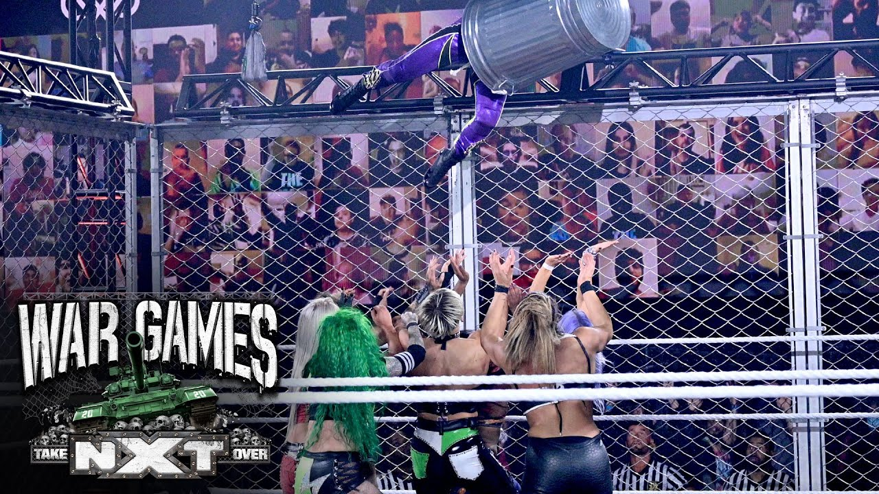 Io Shirai's jaw-dropping jump from the top of the cage: NXT TakeOver: WarGames - YouTube