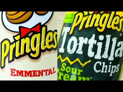 Pringles Emmental Swiss cheese + Tortilla Chips Sour Cream