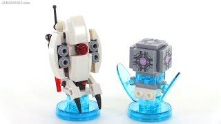 Build with me: LEGO Dimensions Portal 2 Sentry Turret & Companion Cube
