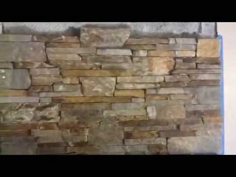 Install Stone Veneer On A Fireplace Wall Youtube
