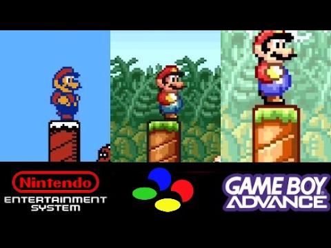 Super Mario Bros 2 Nes Vs Snes Vs Gba Super Mario Advance