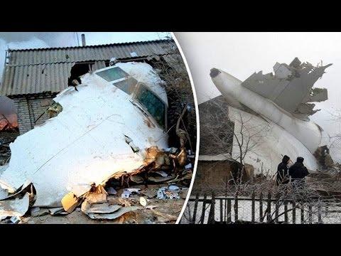 Turkish cargo plane crash lands on Kyrgyzstan homes