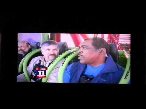 Lex Luthor: Drop of Doom Six Flags Magic Mountain Fox 11 News Media Day