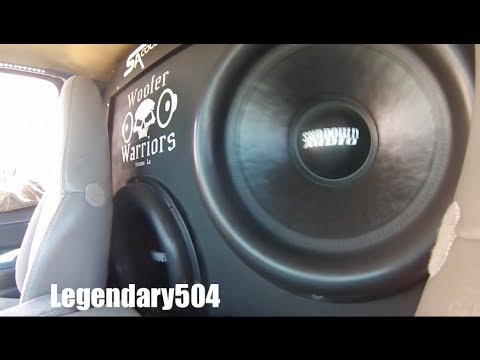 Truck With Sundown Audio 18s In a Wall