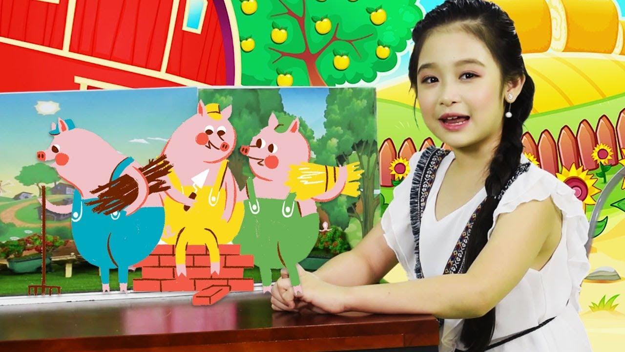 Bé Bảo Ngọc kể chuyện BA CHÚ HEO CON | Thế Giới Cổ Tích Việt Nam | Sen Vang Kids
