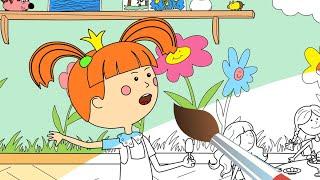 Раскраска с Царевной - Хвастунишка - Учим цвета с малышами!