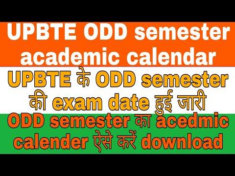 UPBTE ODD Semester Academic Calendar Release, How To Download UPBTE ODD Semester Academic Calendar