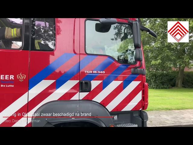 Woning Oldenzaal zwaar beschadigd na brand