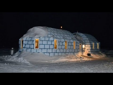 The 'Igloo Bar' is on a Frozen Lake and Visitors Can Even Fish in The Zippel Bay Resort
