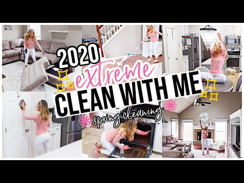 2020 EXTREME SPRING CLEAN WITH ME! HOUSE CLEANING MOTIVATION FOR HOMEMAKERS + SAHM! @Brianna K
