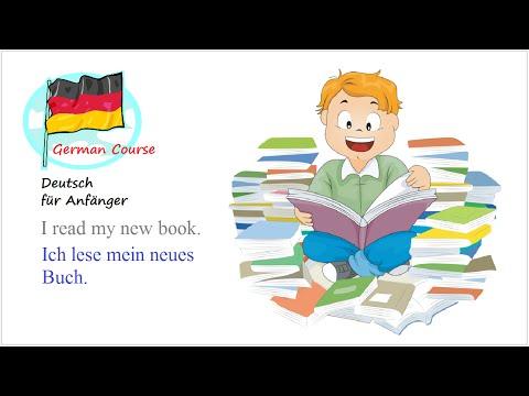 Deutsch Lernen #32 Ich lese ein Buch (Für Anfänger)