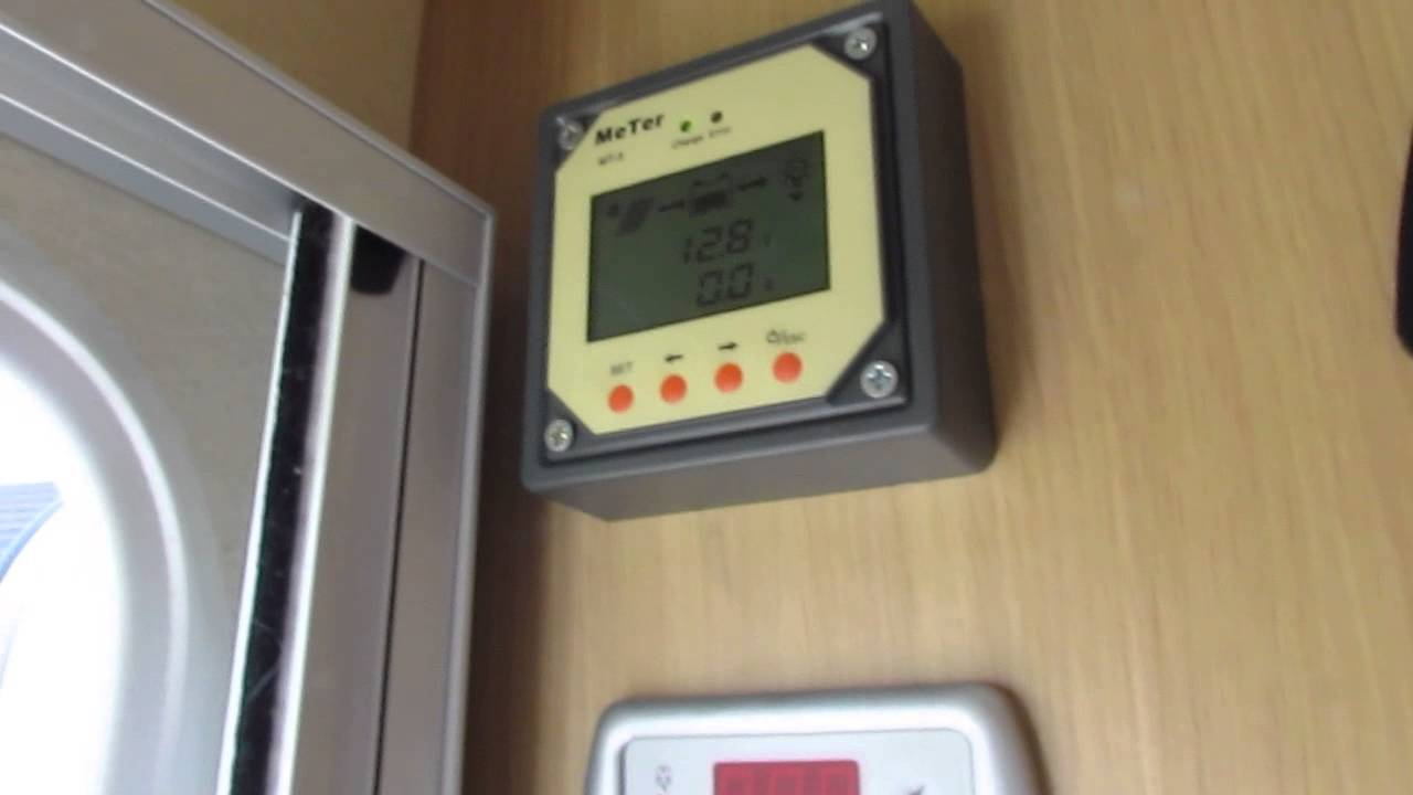 Solar Pannel And Battery Setup In Caravan With Mppt Solar