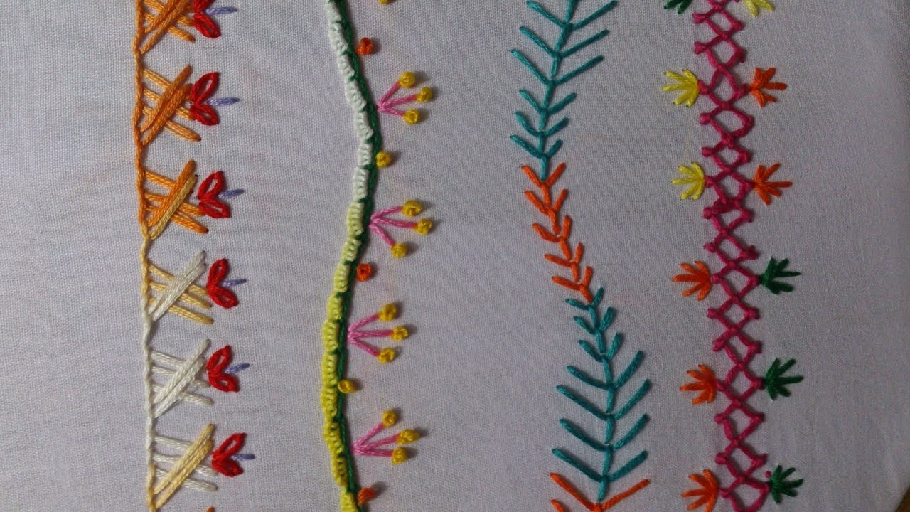 Hand Embroidery Designs Hand Stitches Tutorial Stitch And