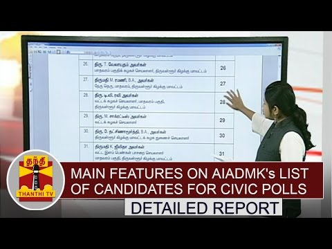 Main features on AIADMK