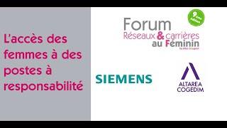Forum Réseaux et Carrières au Féminin 2021 : L'accès des femmes à…