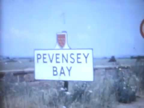 Rare Pevensey Bay, Castle, Hastings Model Village and seafront holiday movie from 1962