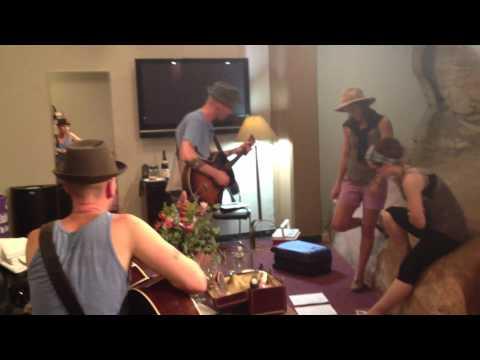 Brandi Carlile & Ingrid Michaelson rehearsing Oh Darling