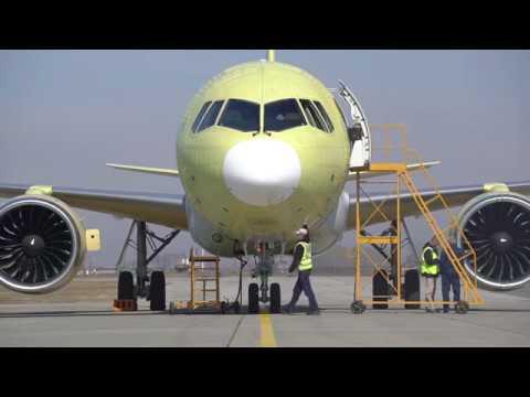 Опытный самолет МС-21-300 совершил перелет из Иркутска в ...
