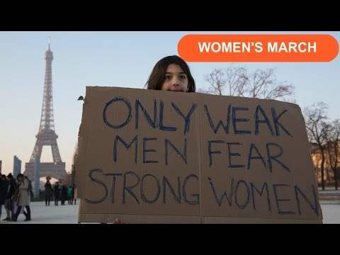 Women's March Paris France - Equal Rights for all - An American's experience