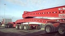 VERY Long Tractor Trailer - 74 Wheeler!