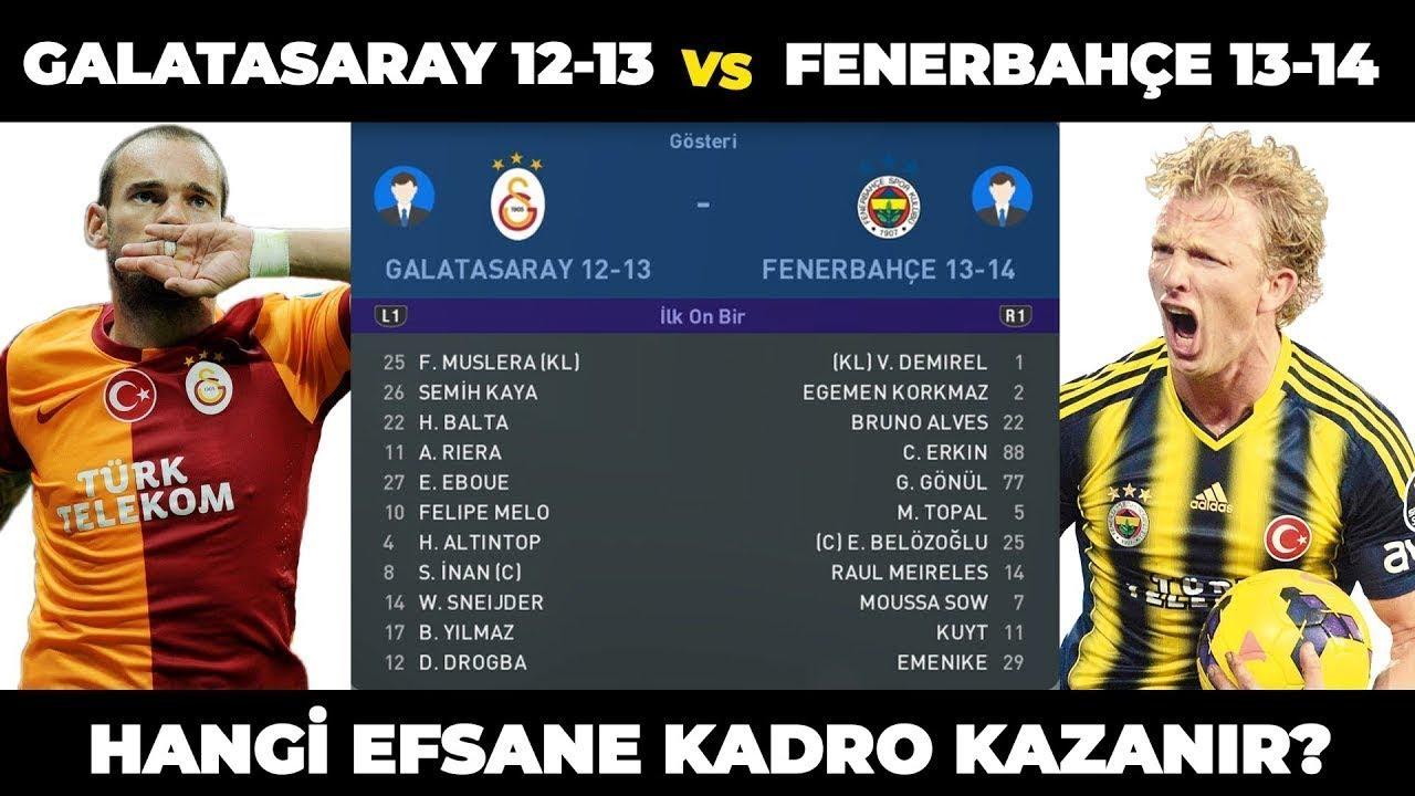 FENERBAHÇE 2013-2014 vs GALATASARAY 2012-2013 (PES 2019 TÜRKÇE)