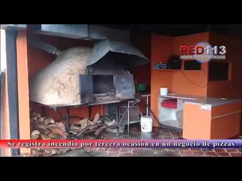 VIDEO Se registra incendio por tercera ocasión en un negocio de pizzas a la leña en la Prados Verdes