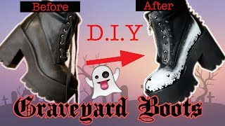 Graveyard Boots?! D.I.Y Custom Boots || Goth-It-Yourself- ReeRee Phillips