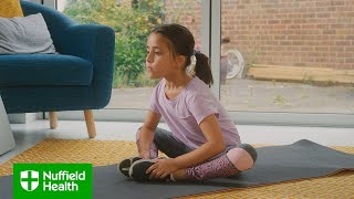 Stephen trussell, personal trainer at nuffield health crawley, leads a short routine to get your kids moving. he'll take them through series of simple exer...