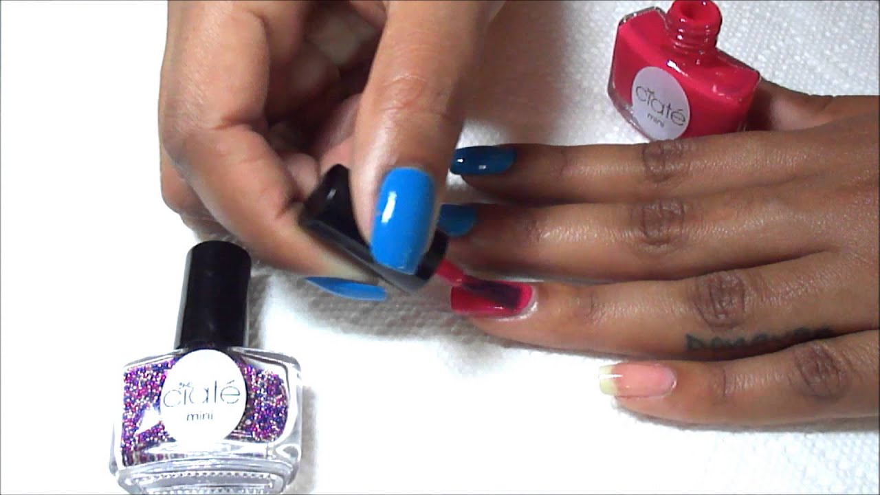 NAILS | CAVIAR MANICURE using Ciaté CAVIAR Mini Bar - YouTube