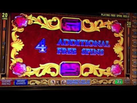 Da Vinci Diamonds slot Machine Bonus Spins with Re-trigger IGT Win