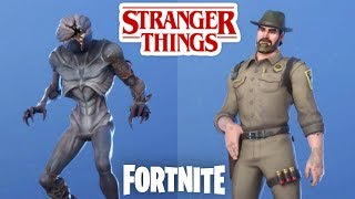 Fortnite stranger Things skins. Chief Hopper - Demogorgon