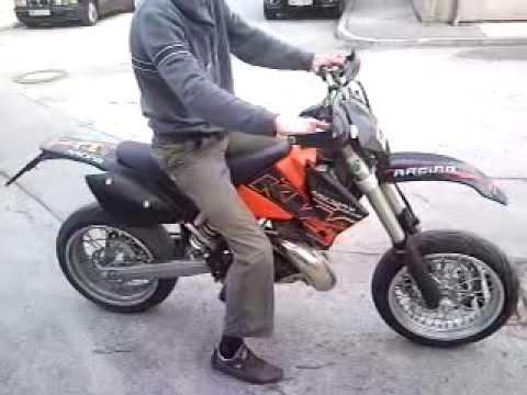 ktm 300 exc supermoto without muffler youtube. Black Bedroom Furniture Sets. Home Design Ideas