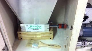Hoosier cabinet motorized grain mill
