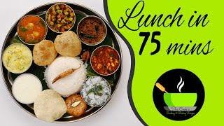 Veg Lunch Menu Recipes | Indian Veg Lunch Menu Ideas | Special Veg Thali | Indian Special Veg Thali