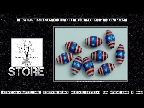 ♻ Paper Beads - Stars & Stripes ( American Flag ) Patriotic USA