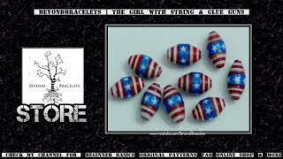 ♻ Paper Beads - Stars & Stripes (American Flag)